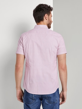 Patterned short-sleeved shirt with a chest pocket - 2 - TOM TAILOR