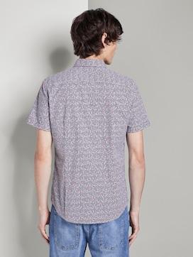 Gemustertes Kurzarm-Hemd mit Brusttasche - 2 - TOM TAILOR