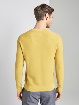 Textured sweater in a washed look - 2 - TOM TAILOR