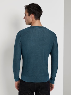 Strukturierter Sweater im Washed-Look - 2 - TOM TAILOR