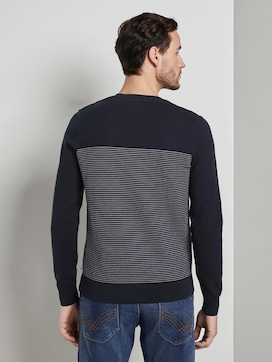 Sweater in a textured mix - 2 - TOM TAILOR