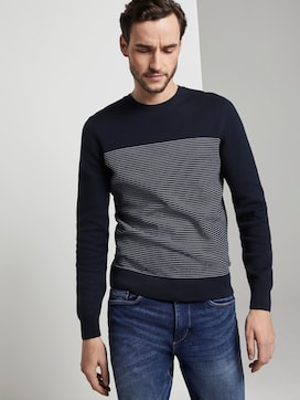 Sweater in a textured mix - 5 - TOM TAILOR