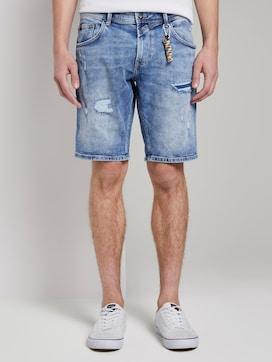Jeansshorts im Destroyed-Look mit Schlüsselanhänger - 1 - TOM TAILOR Denim