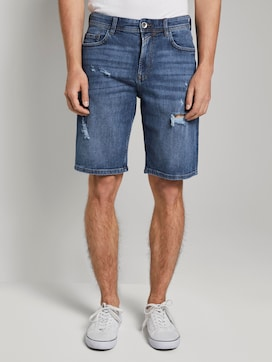 Loose Fit Jeansshort in 90er Waschung - 1 - TOM TAILOR Denim