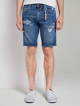 Regular Jeansshorts im Destroyed-Look mit Schlüsselanhänger - 1 - TOM TAILOR Denim