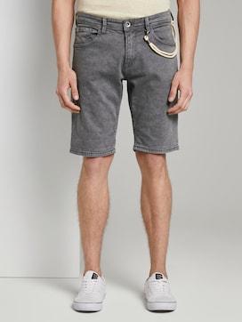 Basic Jeansshorts mit Kordel-Schlüsselanhänger  - 1 - TOM TAILOR Denim