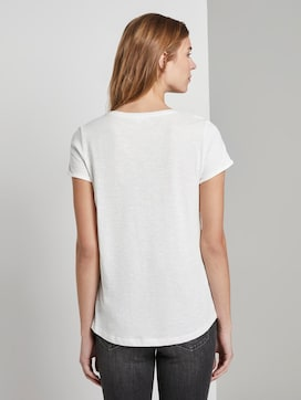 Gestreept T-shirt met kleine print - 2 - TOM TAILOR Denim
