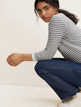 Gestreepte Jacquard Sweater - 5 - TOM TAILOR Denim