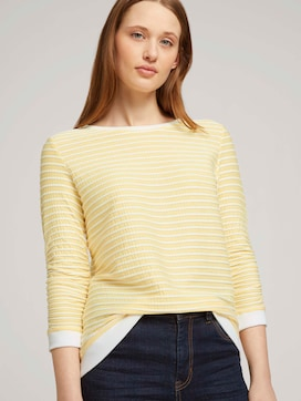 Striped Jacquard sweatshirt - 5 - TOM TAILOR Denim