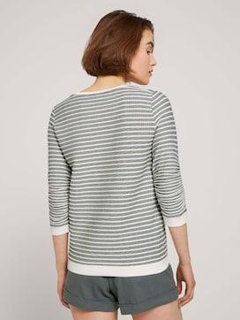 Striped Jacquard sweatshirt - 2 - TOM TAILOR Denim