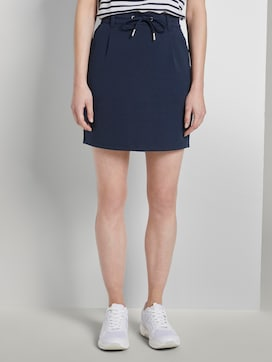 Sporty skirt with a drawstring - 1 - TOM TAILOR Denim