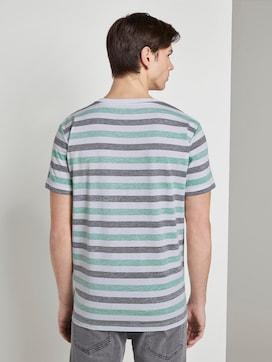Gestreiftes T-Shirt mit Brusttasche - 2 - TOM TAILOR Denim