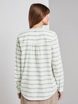 gestreepte Henley blouse - 2 - TOM TAILOR Denim