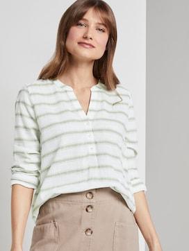 gestreepte Henley blouse - 5 - TOM TAILOR Denim