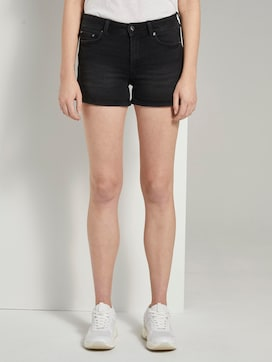 High-waist denim shorts with a push-up effect - 1 - TOM TAILOR Denim