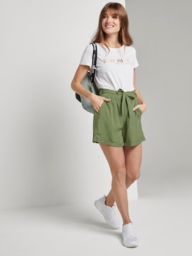 Relaxed Shorts mit Bindeband - 3 - TOM TAILOR Denim