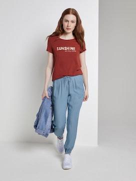 Haremshose in Jeans-Optik mit elastischem Bund - 3 - TOM TAILOR Denim