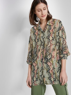 Oversized blouse with a snake print - 5 - TOM TAILOR Denim