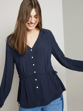 Bluse mit Taillen-Detail - 5 - TOM TAILOR Denim