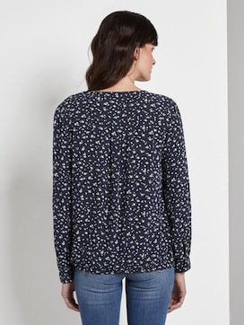 Printed blouse with an elastic waistband - 2 - TOM TAILOR