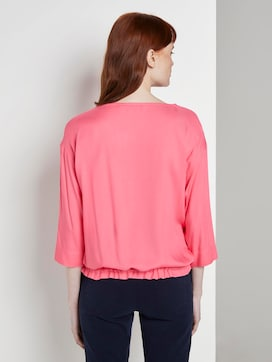 Blouse top with an adjustable waistband - 2 - TOM TAILOR