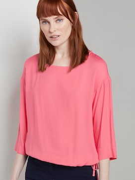 Blouse top with an adjustable waistband - 5 - TOM TAILOR