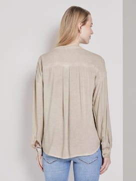 Shirt blouse with chest pockets - 2 - TOM TAILOR