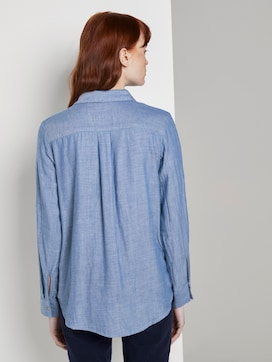 Double-sided cotton shirt-blouse - 2 - TOM TAILOR