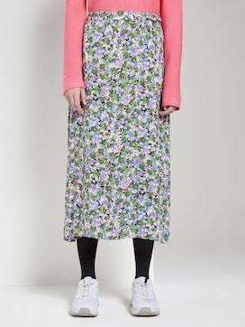 Patterned midi skirt in a wrap look - 1 - TOM TAILOR