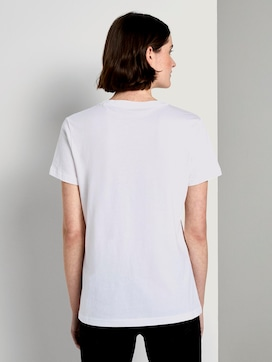 T-shirt with a floral print - 2 - TOM TAILOR