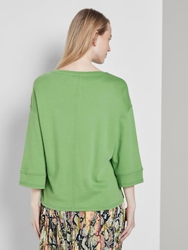 Cotton shirt with contrasting seams - 2 - TOM TAILOR