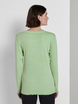 Langarm Henley-Shirt in Ripp-Optik - 2 - TOM TAILOR