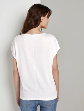 T-shirt in a crincle look - 2 - TOM TAILOR