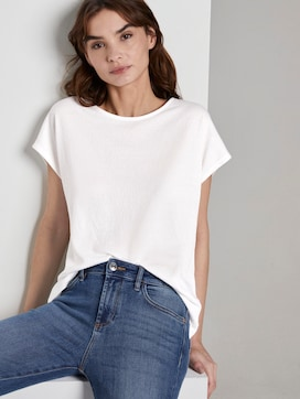 T-shirt in a crincle look - 5 - TOM TAILOR