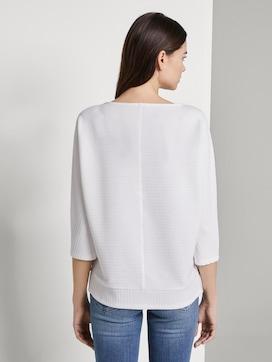 Sweatshirt mit Ottoman-Struktur - 2 - TOM TAILOR