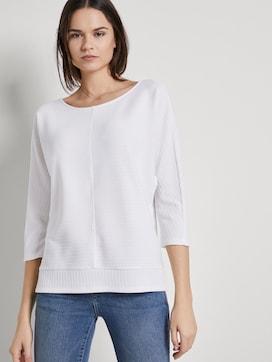 Sweatshirt mit Ottoman-Struktur - 5 - TOM TAILOR