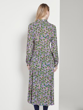 Midi shirt dress with a floral pattern - 2 - TOM TAILOR