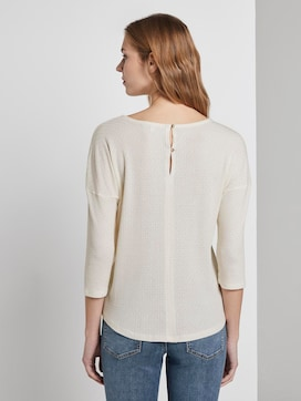 Long-sleeved top with a fine structure - 2 - TOM TAILOR Denim