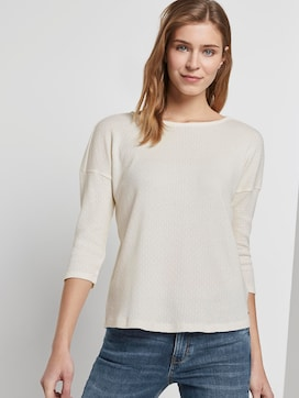 Long-sleeved top with a fine structure - 5 - TOM TAILOR Denim