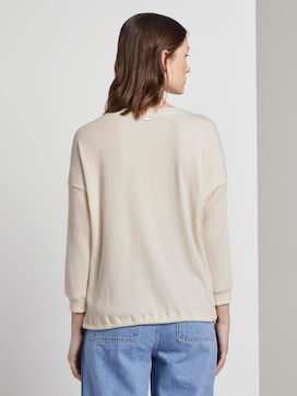 Ribbed long-sleeved top with a button tab - 2 - TOM TAILOR Denim