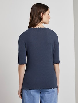 T-shirt with a lace pattern - 2 - TOM TAILOR Denim