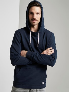Hoodie in Washed-Look - 5 - TOM TAILOR