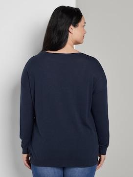Blouse shirt met V-hals - 2 - My True Me