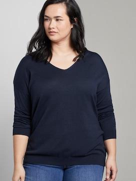 Blouse shirt met V-hals - 5 - My True Me