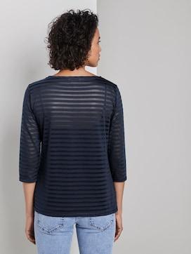 Gestreept hemd met 3/4 mouwen - 2 - Tom Tailor E-Shop Kollektion