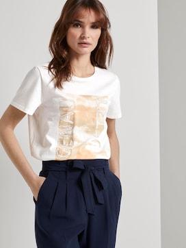Nena & Larissa: T-Shirt mit Schrift-Print - 5 - TOM TAILOR