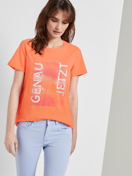 Nena & Larissa: T-shirt with a letter print - 5 - TOM TAILOR