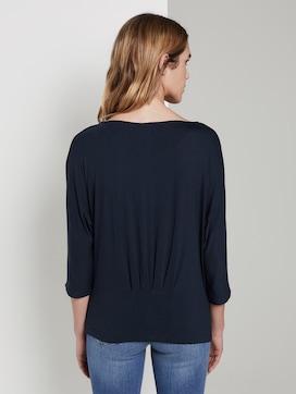 T-shirt met plooien - 2 - TOM TAILOR