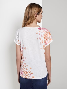 T-Shirt mit Blumenmuster - 2 - TOM TAILOR