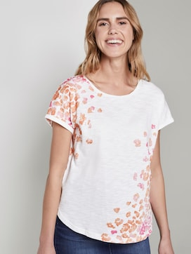 T-Shirt mit Blumenmuster - 5 - TOM TAILOR